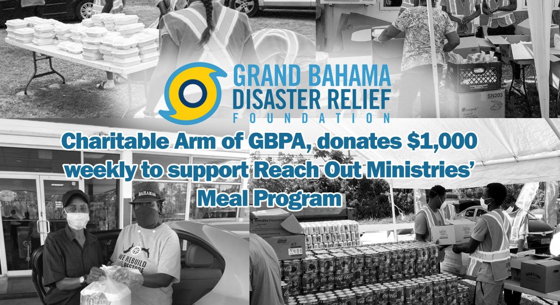 GBDRF, the Charitable Arm of GBPA, donates $1,000 weekly to support Reach Out Ministries' Meal Program